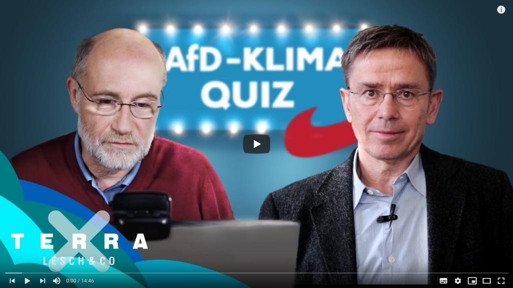 Das AfD-Klimaquiz für Schüler mit Harald Lesch und Prof. Stefan Rahmstorf